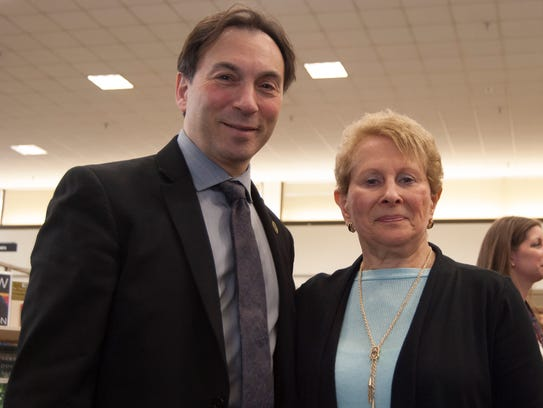 East Brunswick Mayor Brad J. Cohen with Barbara Libove,