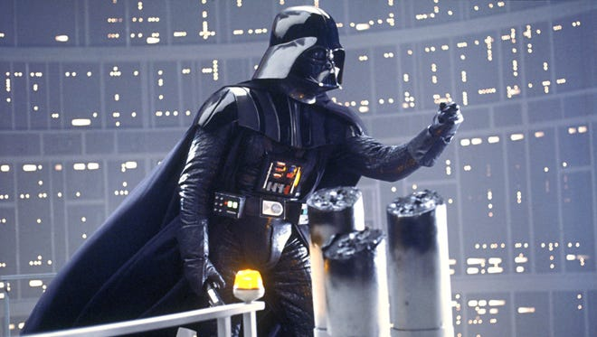 "Darth Vader urges his son, Luke Skywalker, to join him on the Dark Side in ""The Empire Strikes Back."""