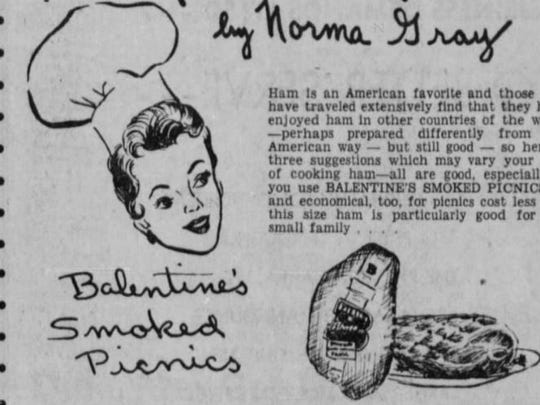 A newspaper advertisement for Balentine's.