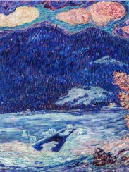 "Marsden Hartley, ""The Ice Hole, Maine,"" 1908-09; oil"
