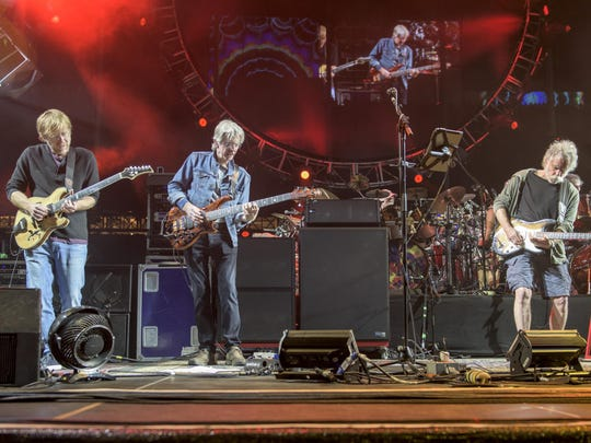 Trey Anastasio (left to right), Phil Lesh, Bob Weir perform at Levi's Stadium on June 28 in Santa Clara, California.