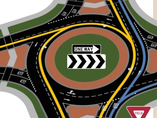 Construction of Portage County's first roundabout begins