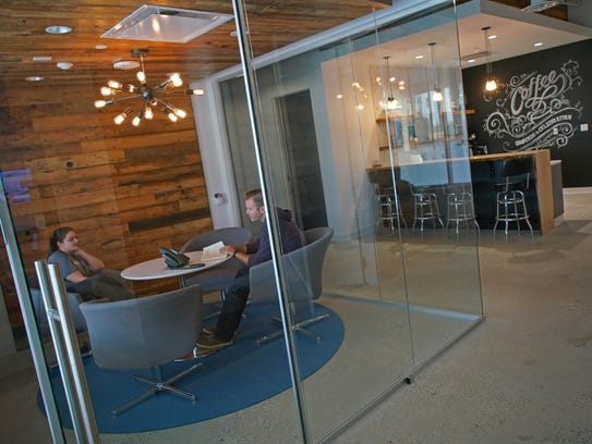 Small conference rooms for employees to innovate at