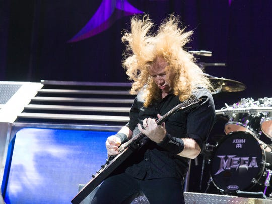 Dave Mustaine of Megadeth performs at Ozzfest in 2016. Mustaine announced Monday he has been diagnosed with throat cancer.