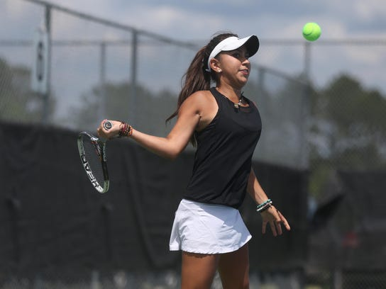 Chiles' Sofia Guerrero takes on Niceville in a Region