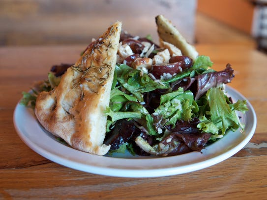 Salads are popular too at Pompeii Pizzeria in Elk River.
