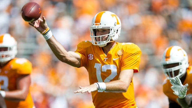 Tennessee quarterback Quinten Dormady did not travel with the team to Kentucky.