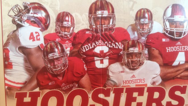 Indiana football poster