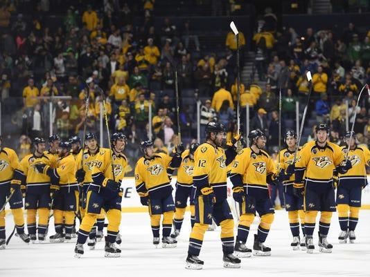 NHL: New York Islanders at Nashville Predators