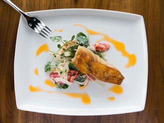 Pan-seared Chilean sea bass at Bourbon and Bones restaurant
