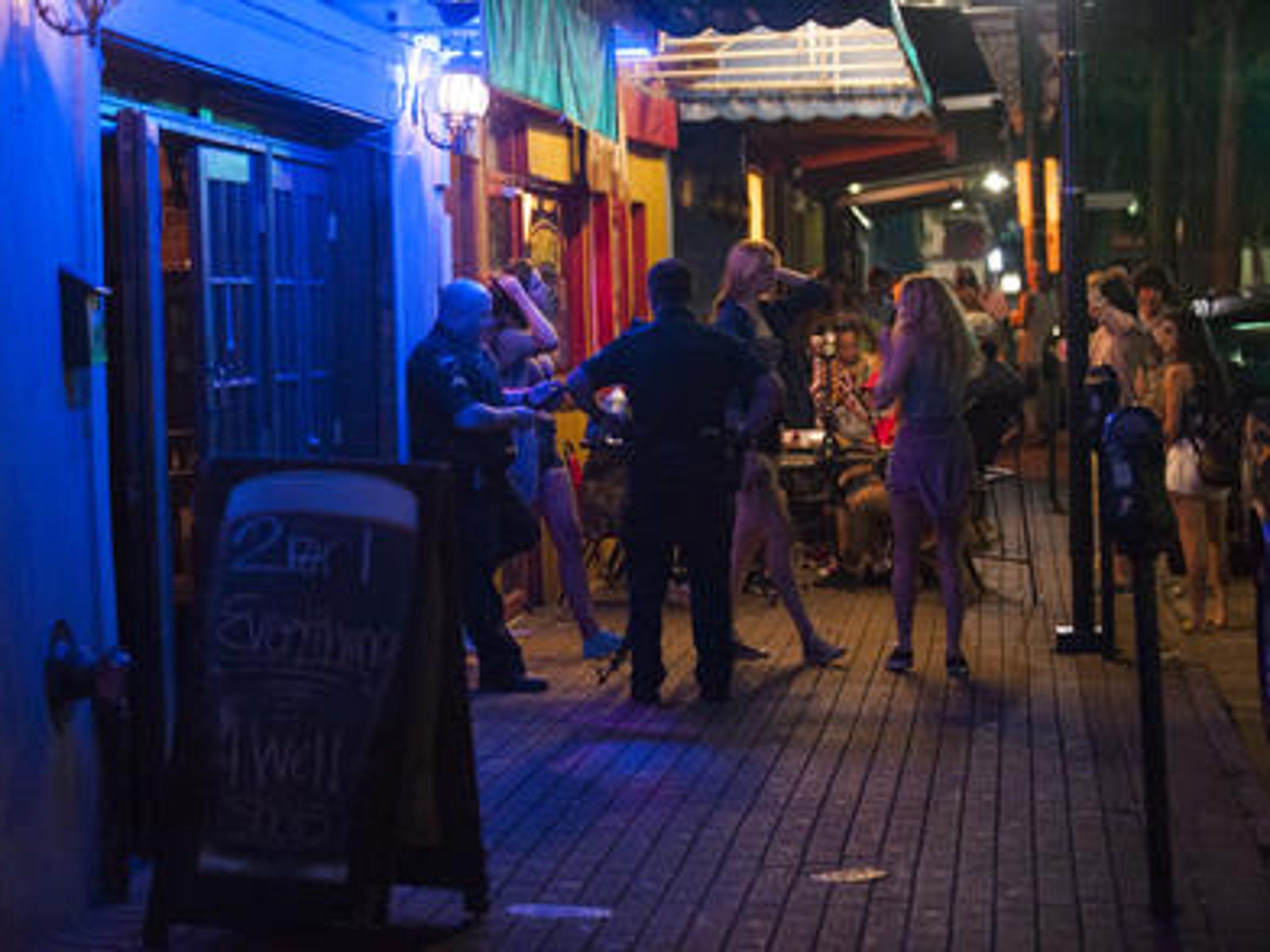 The downtown Lafayette bar scene in June 2009.