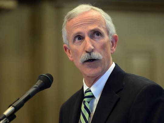 City Manager Gary Jackson addresses the Asheville City Council on Oct. 28.