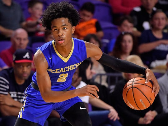 McEachern point guard Sharife Cooper (Photo: Jasen Vinlove, USA TODAY Sports)