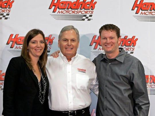 Kelley, Dale Jr. and Rick Hendrick in 2007. (Chuck Burton, AP)