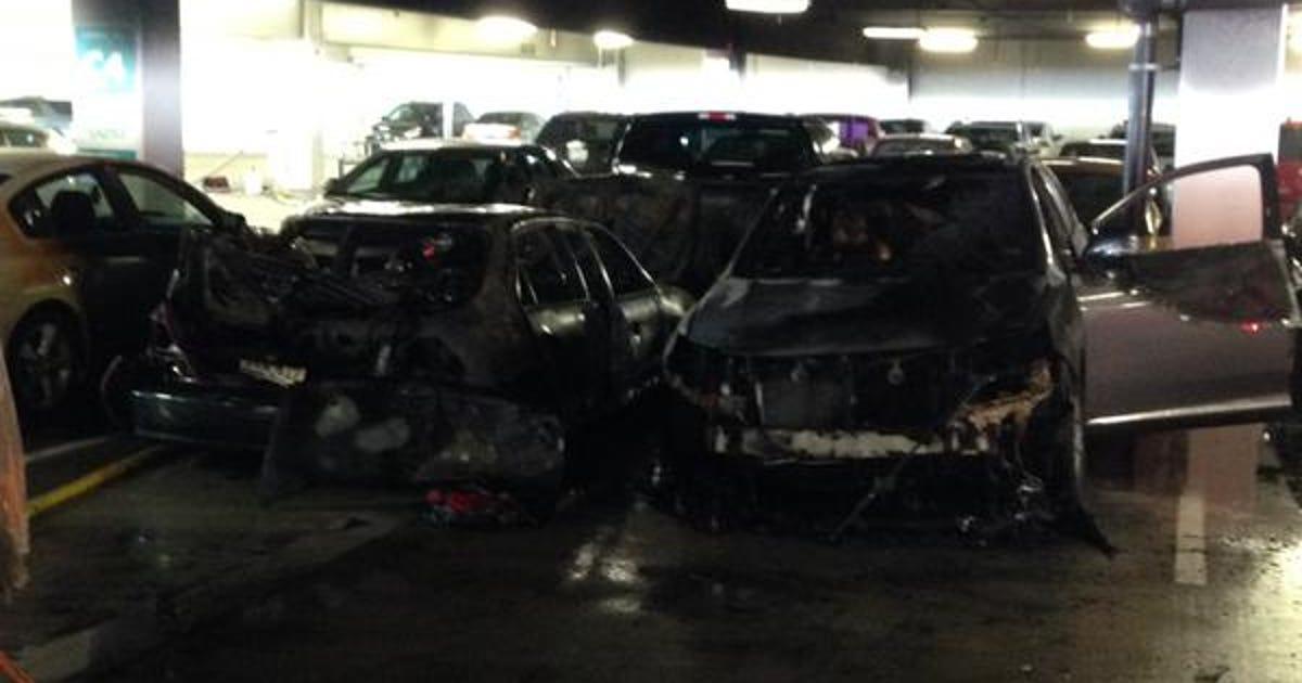 Fire in Nebraska Furniture Mart garage damages 4 cars