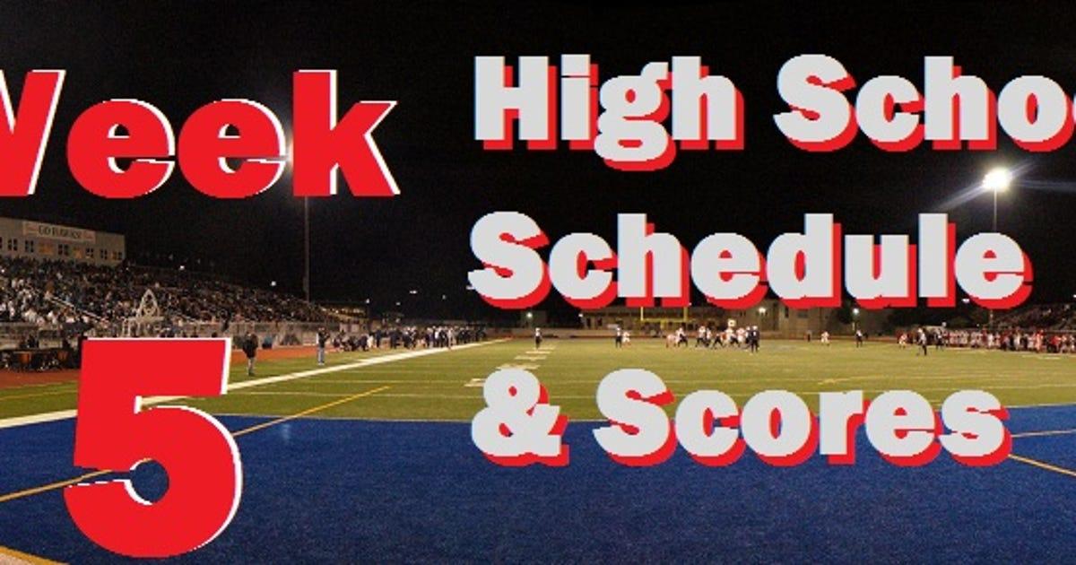 college football scorea college football week 5 schedule