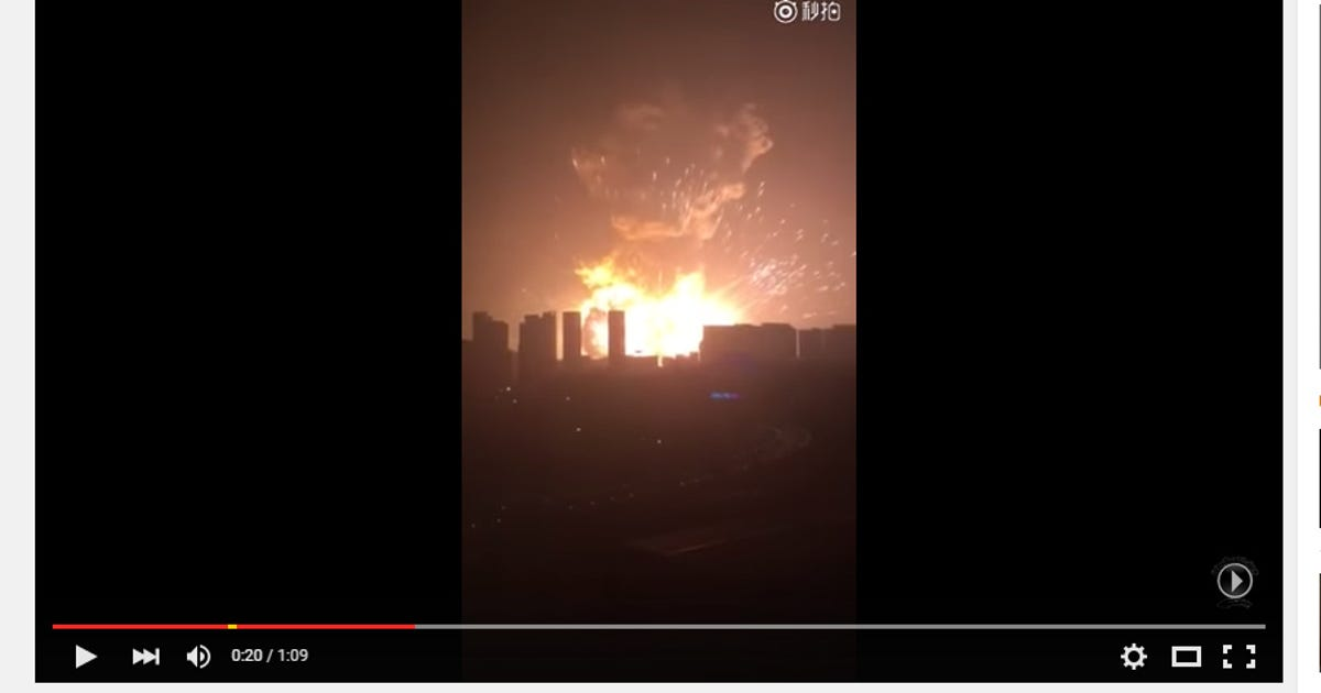 Huge blast rocks northern port city in China