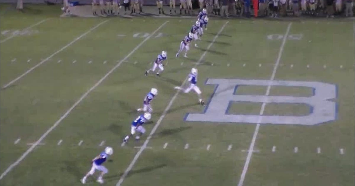 Local high school player makes 63-yard 'free kick'