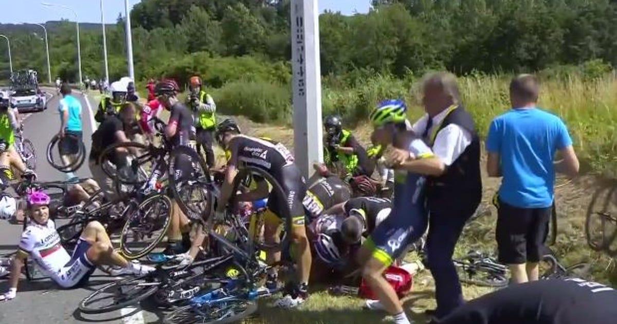 Permalink to Tour De France Crash