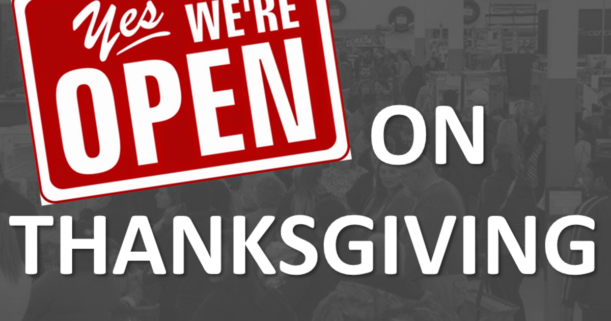 Clothing stores open thanksgiving