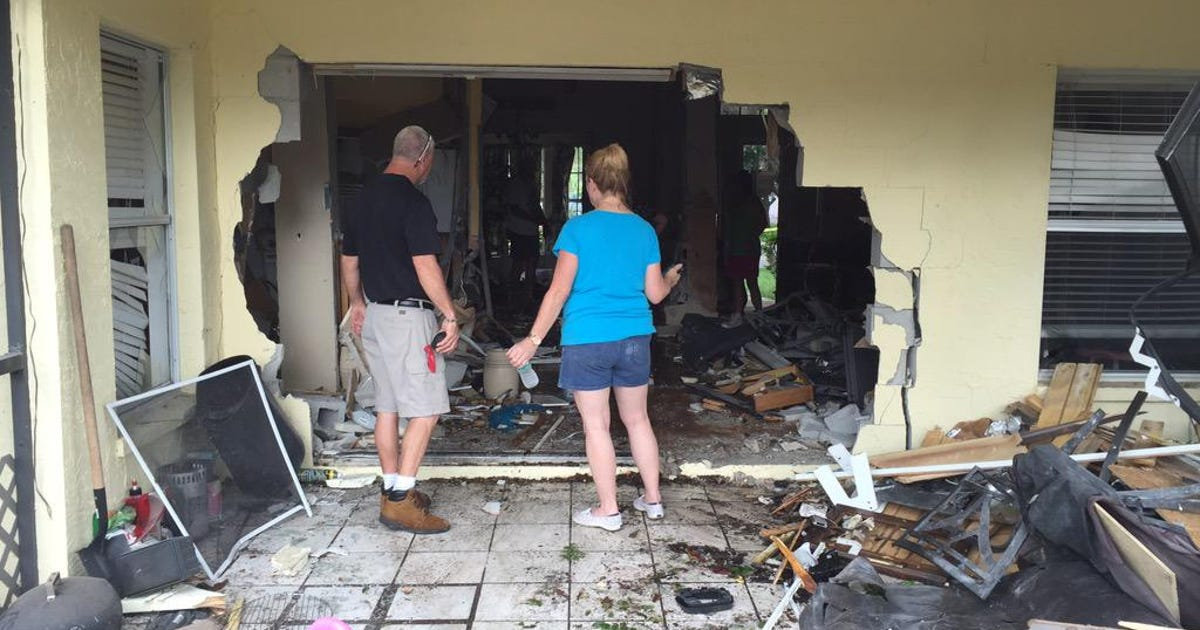 Deputies say valrico man intentionally drove through house - Theusd house built in six weeks a young mans gut check ...