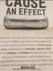 Show this flier while dining at Chipotle on Youree