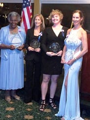 2018 Women of Distinction winners, from left, Marian