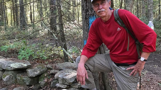 Former Providence Journal business editor John Kostrzewa, enjoying some hiking.