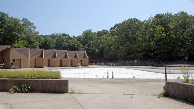 Weeds are growing in the cracks of the Sprain Ridge pool, as seen in a file photo from July 2014.