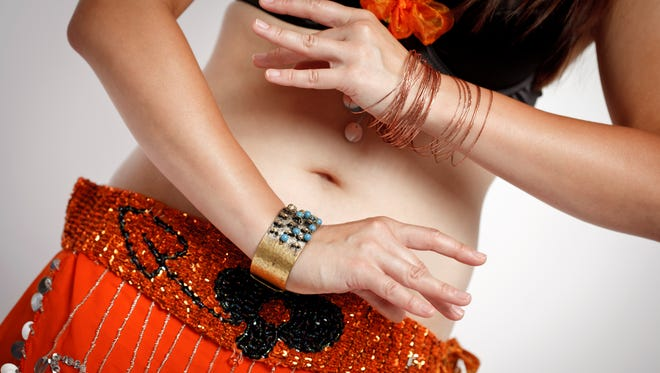 Belly Button of Dancing Belly Dancer