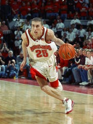 Steve Blake of the Maryland Terrapins cuts to the basket