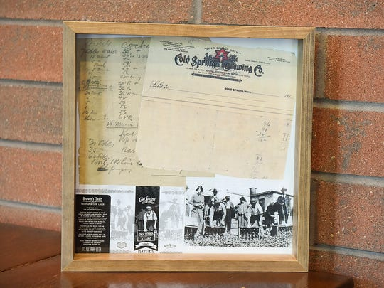"""Third Street Brewhouse Manager Karl Schmitz recently found this handwritten recipe by Cold Spring Brewing Co. brewmaster Eugene Hermanutz. It is shown in a photo taken Thursday, June 1, in Cold Spring. The pre-Prohibition recipe has been recreated by the Third Street Brewhouse and dubbed """"Brewers Tears."""""""