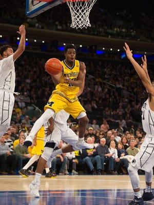 Michigan's Derrick Walton Jr. has led the Wolverines in the absence of injured star Caris LaVert.