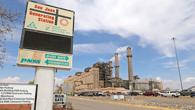 The San Juan Generating Station as seen on April 20 on County Road 6800 in Waterflow.