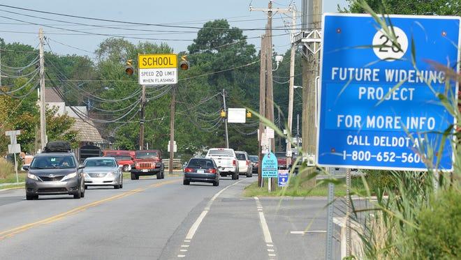 Delaware Route 26 in Ocean View.