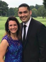 Jennifer Padilla, left, and her husband Jerry.