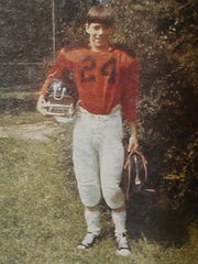 Jim Kelly as a boy, in a picture featured in Upstate magazine.