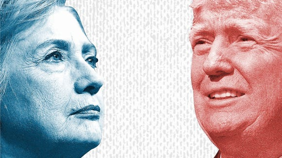 Hillary Clinton and Donald Trump are in a dead heat