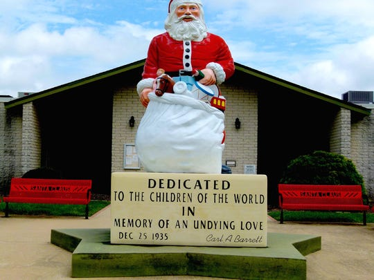 Even the local Santa Claus Fire Department has a St. Nick statue and firetrucks are nicknamed Rudolph, Dasher and Blitzen.