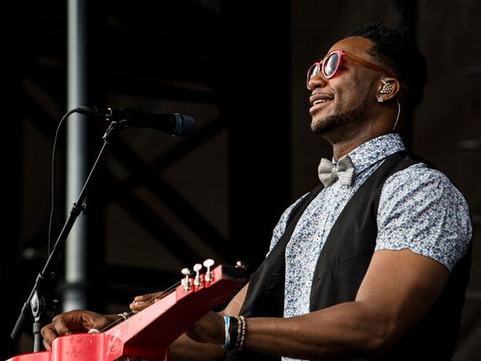 October 07, 2017 - Robert Randolph and the Family Band perform during the second day of MEMPHO Music Festival at Shelby Farms Park on Saturday.