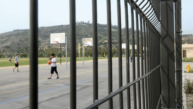 Rancho Campana High School in Camarillo, one of the newer schools in Ventura County, has sturdy fencing that helps keep students safe. Other school districts are eyeing changes to safety and security measures across school sites and hope to implement those changes using money from bonds on the June ballot.