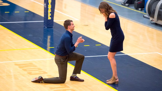 Austin Hatch, a former Michigan basketball player who survived two deadly plane crashes, is engaged.