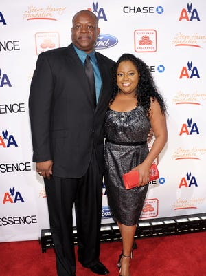 Lamar Sally and Sherri Shepherd attend the 2nd annual Steve Harvey Foundation Gala at Cipriani, Wall Street on April 4, 2011 in New York City.