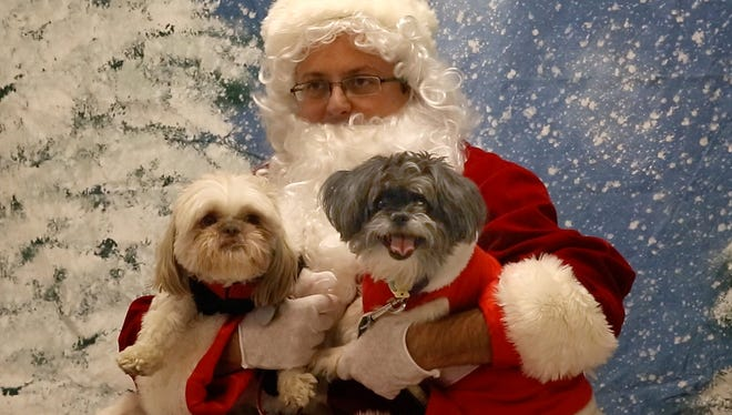 Reporter Jerry Carino learned how to play a good Santa at the Jersey Shore Animal Center's Photos with Santa event in Brick.