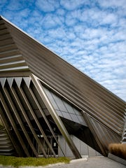 The Eli and Edythe Broad Art Museum photographed on