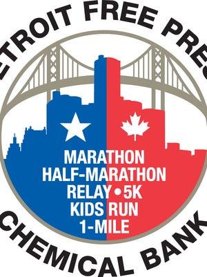 2018 Detroit Free Press/Chemical Bank Marathon logo.
