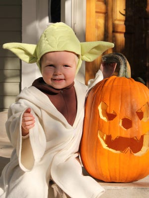 Lisa and Bill Boncosky's son, Sam, dressed up as Yoda for Halloween in 2008.