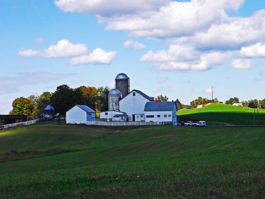 A farm perched between hills in Dutchess County.
