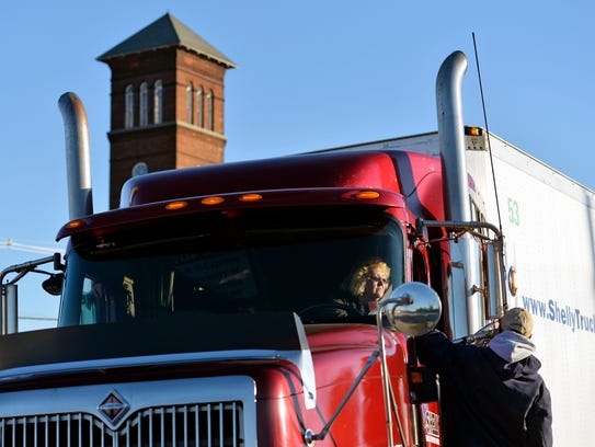 Shelly Truck Driving School trainee Connie Watson of