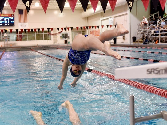 West York's Meghan French dives in to begin her turn